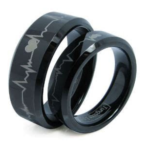 China Matching Black Comfort Fit Tungsten Carbide Wedding