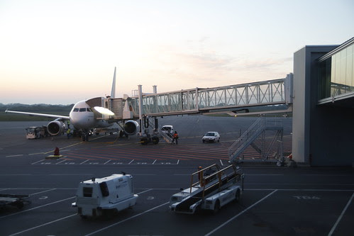 The plane to Brest