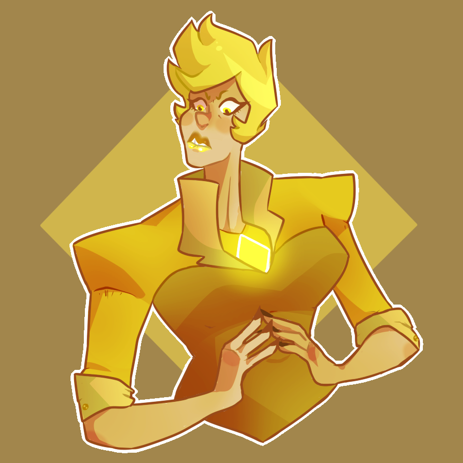 a human yellow maybe?? tried to make her kind of accurate to the show. I'll make a different version later