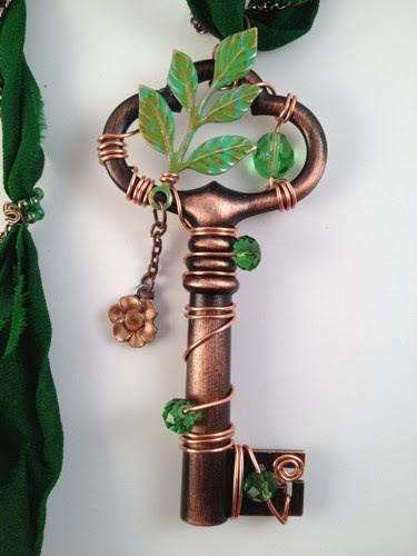 'Secret Garden' Wire Wrapped Key by TTE Designs on Art FIre. $22