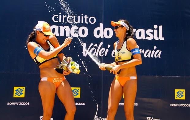 Talita atual campeã do Circuito Mundial e da etapa do Circuito Brasileiro em Natal - vôlei de praia (Foto: Paulo Frank/CBV)
