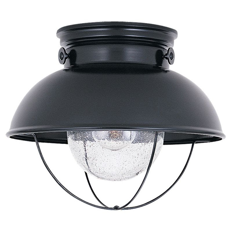 Sea Gull Lighting 8869-12 Black Sebring 1 Light Outdoor ...