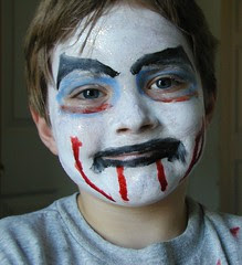 kevin's face paint