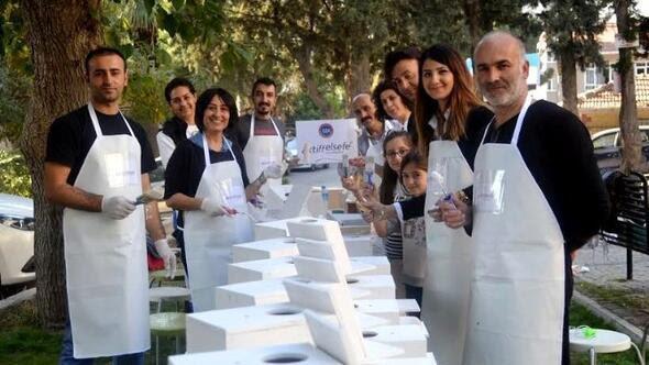 Izmir Haberleri Mutlu Kuş Yuvaları Boyama çalışması Yerel Haberler