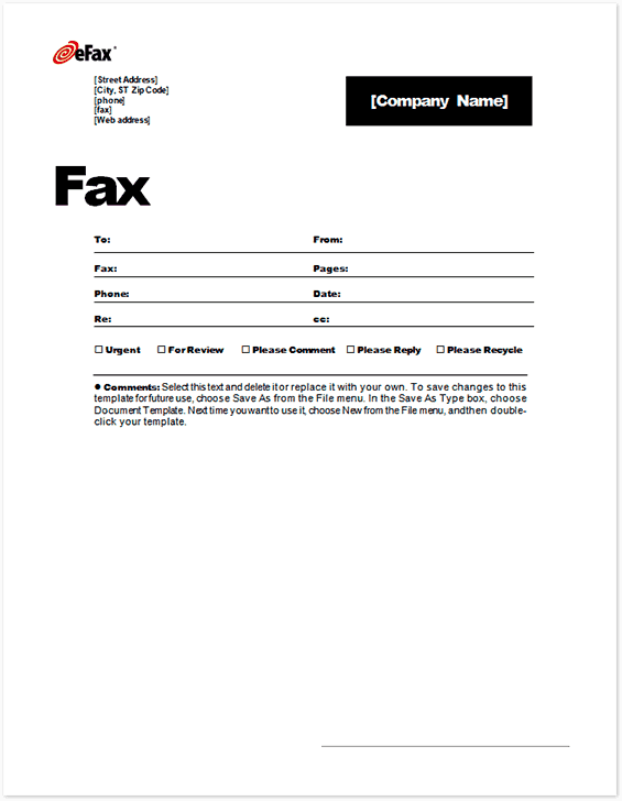 free download fax cover sheet