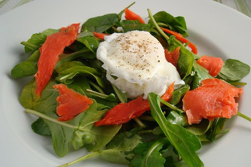 Smoked Salmon and Poached Egg Salad