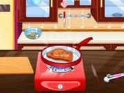 قطعة لحم مع صلصة البارنيز