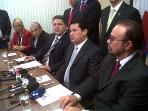 Líderes do PR reunidos e Brasília