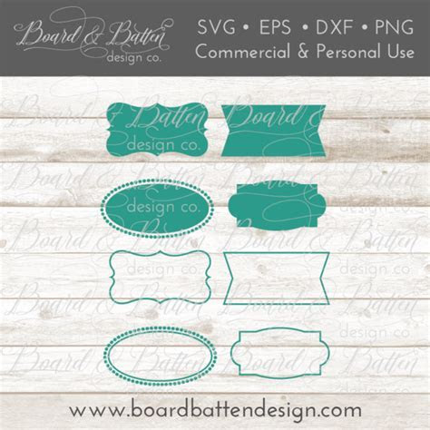 Vintage Farmhouse Style Canister Label SVG Set ? Board
