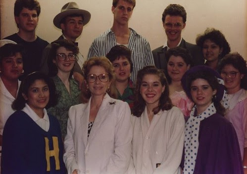 One-Act Play Cast and Crew, Edna High School, 1988