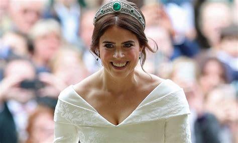 Princess Eugenie's evening dress at the royal wedding