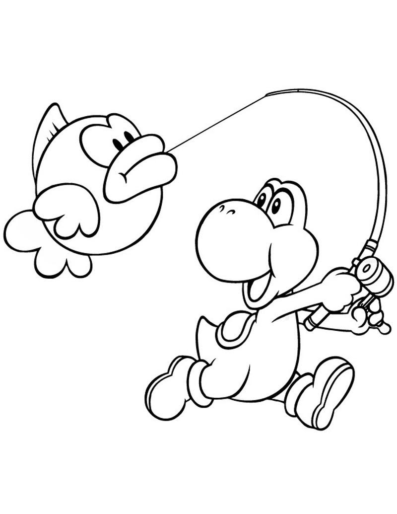 Mario Yoshi Coloring Pages At Getdrawingscom Free For Personal
