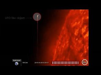 Nasa observa ovni que se quema en el sol 2017