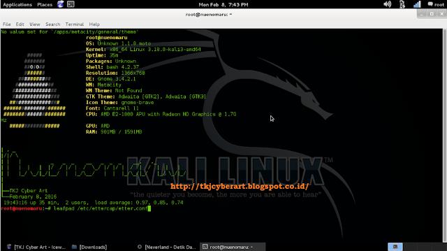 Mencuri Username dan Password pada Jaringan Wifi menggunakan Kali Linux