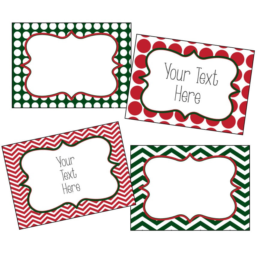 Christmas Labels Editable Christmas Labels by SOSPrintables