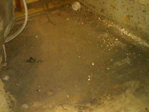 Floor under dryer