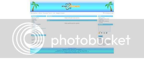 Free php-fusion Ocean Bleu Web2.0 Theme Template