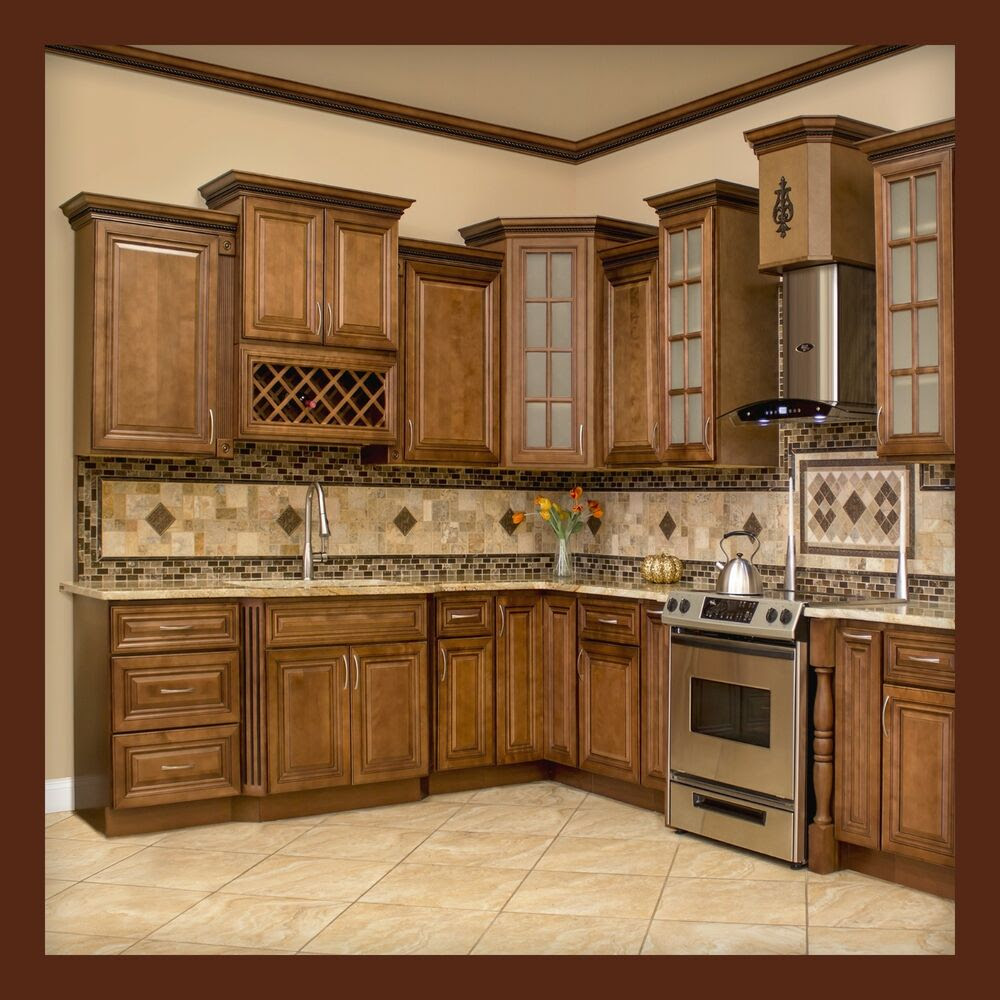 All Solid Wood KITCHEN CABINETS GENEVA 10x10 RTA  eBay