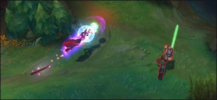 Ahri usando uma de suas habilidades de escape (Foto: Reprodução/News of Legends)
