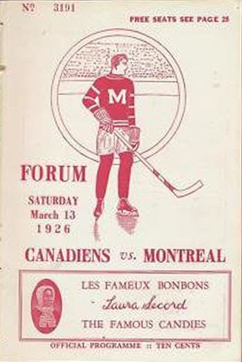 1925-26 Maroons Canadiens program, 1925-26 Maroons Canadiens program
