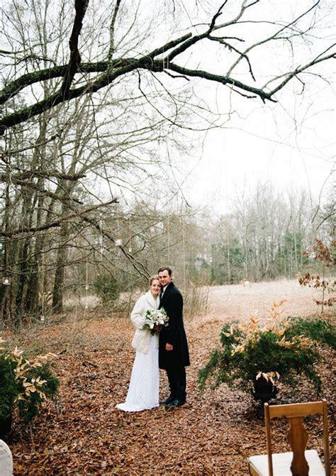 Woodland winter wedding ideas   100 Layer Cake