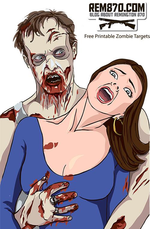Free Printable Zombie Shooting Targets, Download, Print, Shoot ...