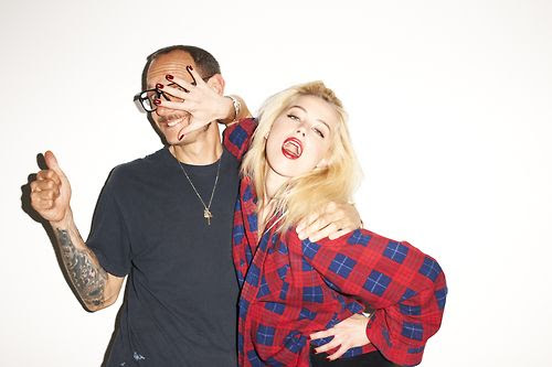 Amber Heard posa com o fotógrafo Terry Richardson / Terry Richardson/Blog Oficial