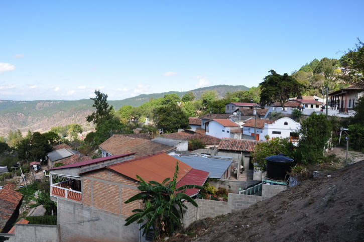 Honduras, Santa Lucia, pres de Tegucigalpa, ville coloniale
