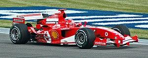 A modern Formula One car: Michael Schumacher's...