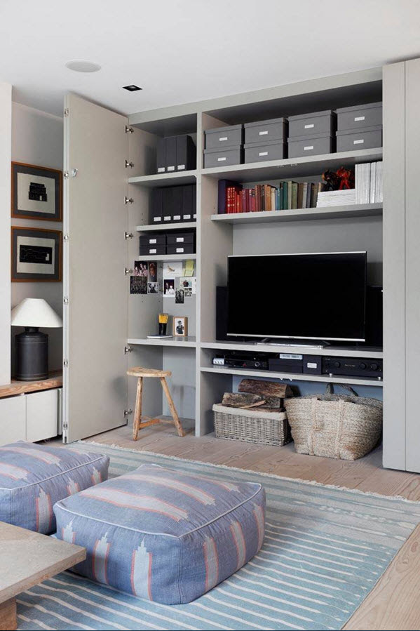 Storage Systems Variety for the Living Room - Small Design ...