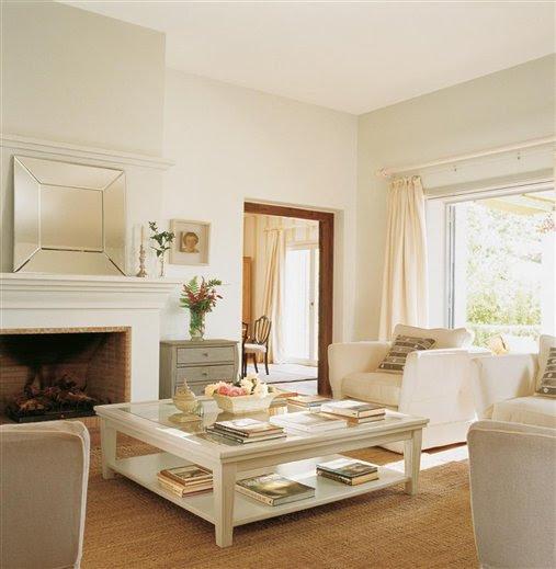 Sunshine in spain inspiring interiors - Chimenea electrica mueble ...
