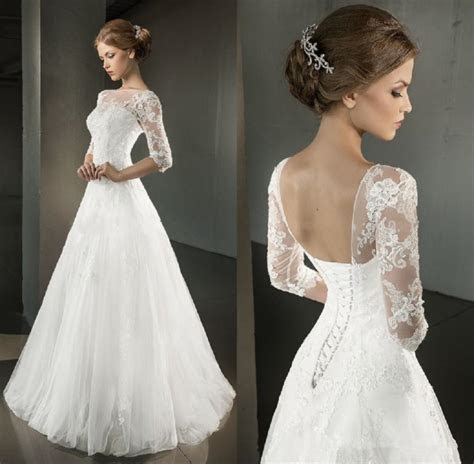 25 Perfect Lace Wedding Dress Open Back With Sleeves   VIs Wed
