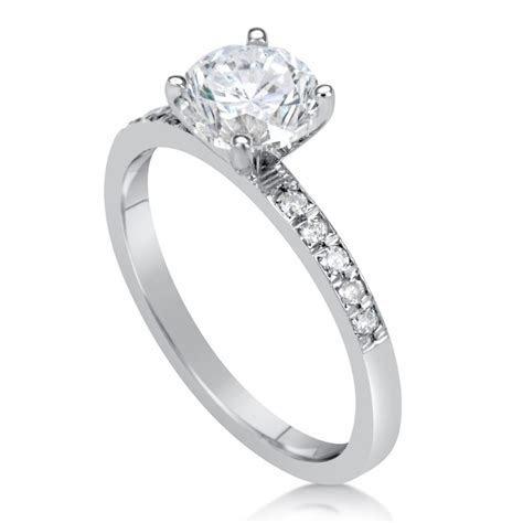 1.5 Carat Round Cut Diamond Engagement Ring   Ara Diamonds