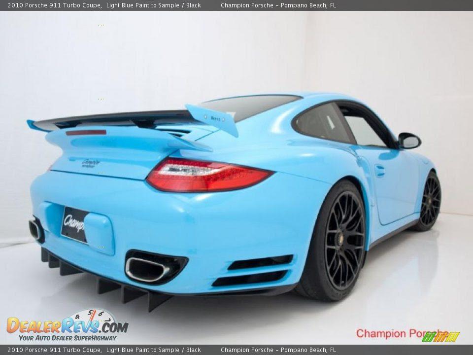 2010 Porsche 911 Turbo Coupe Light Blue Paint To Sample