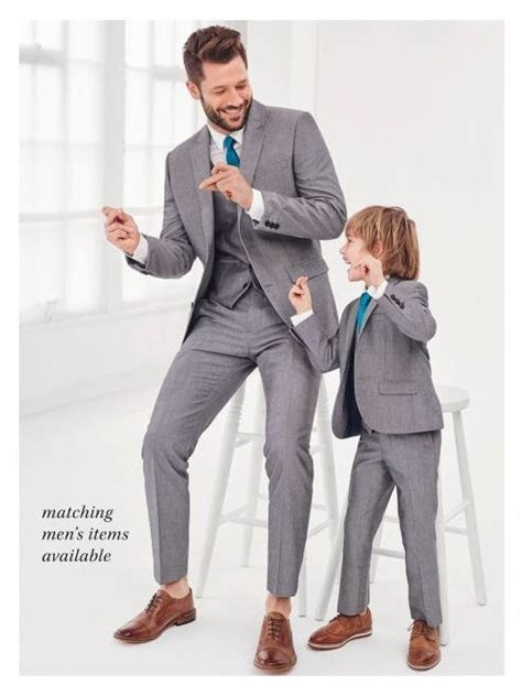 Newest Gray Father and Son Matching Suits 3 Pieces Best