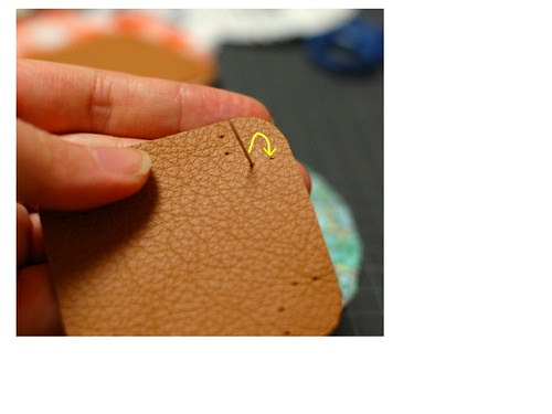 How to make a leather bottom pincushion 6
