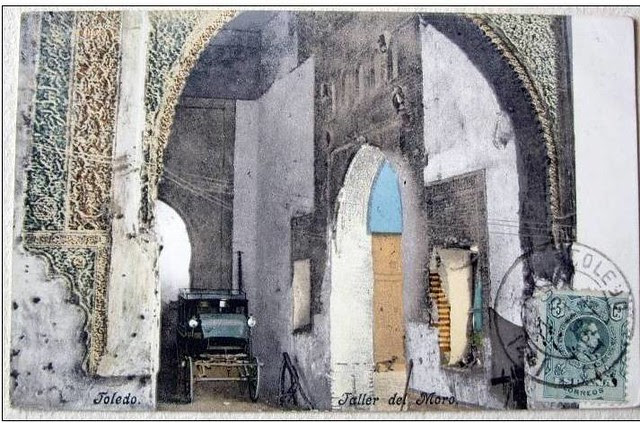 Taller del Moro hacia 1900. Fotografía coloreada por Pürger