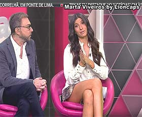 Marta Vivieros sensual na Cmtv