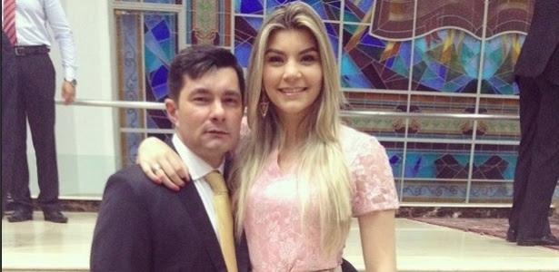 Waleska Lima, ao lado de seu pai, o pastor Wagner Lima; exoneração após reportagem