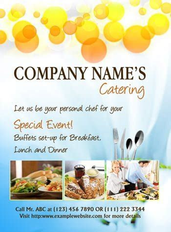 MS Word Catering Flyer Template   Office Templates Online