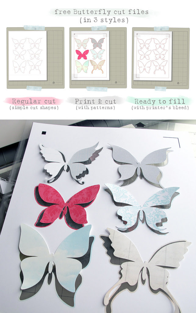 free Butterfly Silhouette Studio cut   files preview