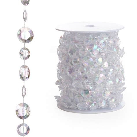 Beads By The Roll   Iridescent Diamond Cut (66 Feet) BEST