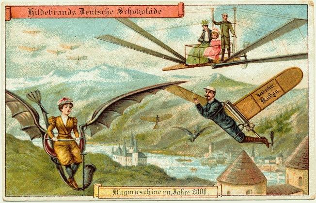 carte postale 2000 futur 05 En 1900, des cartes postales imaginent lan 2000  histoire featured design