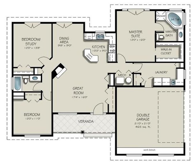 Awesome 3 Bedroom Tiny House Blueprints pictures