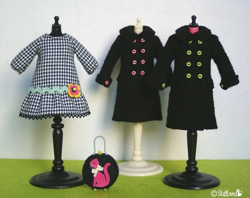 Licorice Boiled wool coats
