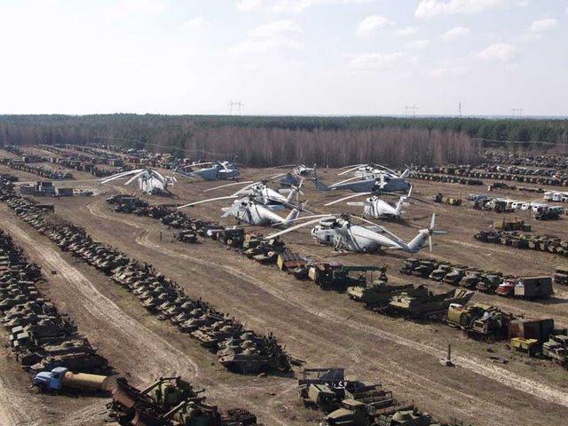 Abandoned Russian army scrap metal 2