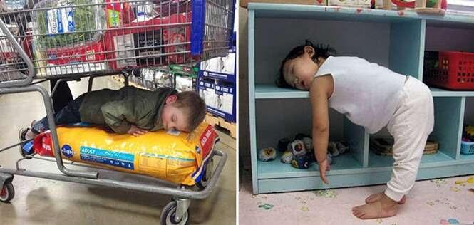 Crianças que não sabem como dormir corretamente