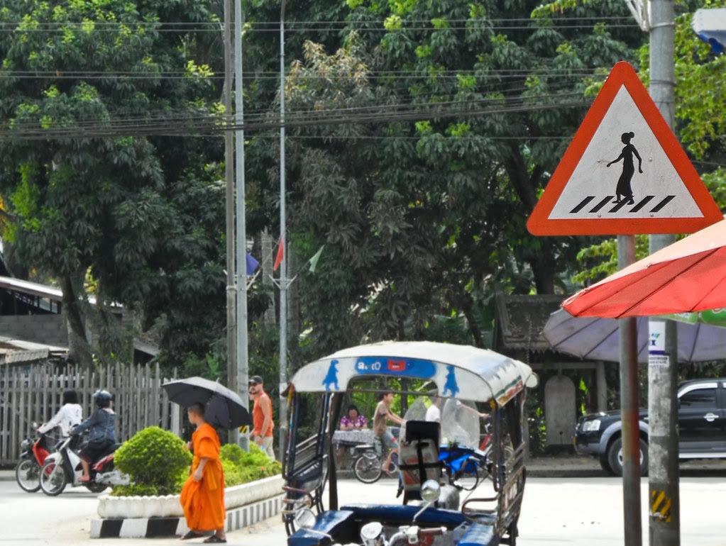 Street scene Laos