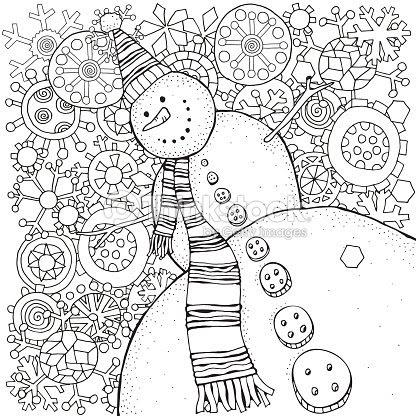 陽気な雪だるまと雪の結晶冬雪そりニンジンボタンメリー クリスマス新年