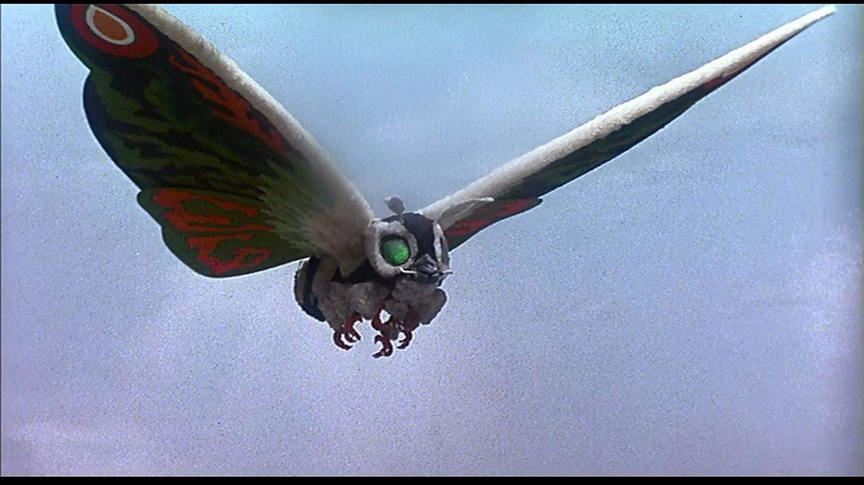 Mothra, just like the last film. LOVELY PLUMAGE!